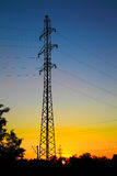 Electrical mast Royalty Free Stock Photos