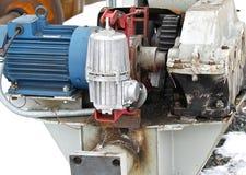 Electrical mechanical actuator wheel gantry crane Royalty Free Stock Image