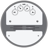 Electrical Meter. Electrical device for measuring the consumption of electricity. Vector illustration royalty free illustration