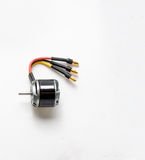 Electrical micro motor using DC for models of aircraft.  stock photography