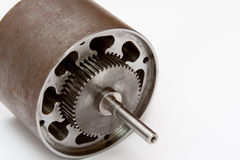 Electrical motor detail. As part of engineering image Stock Photography