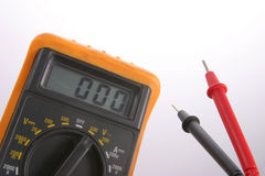 Electrical Multi-meter Tester. Electrician's Multi-meter royalty free stock image