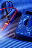 Electrical multimeter tester Stock Photos