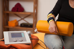 Electrical muscle stimulation. Physio therapy Royalty Free Stock Photos