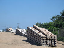 Electrical network. Poles for electrical network - Amazonia - Brazil Stock Photography