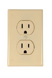 Electrical Outlet. Isolated over white background - With Clipping Path stock photos