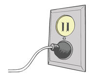 Electrical outlet. Cartoon illustration of an electrical outlet vector illustration