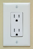 Electrical Outlet. Household Electrical Outlet on the Wall. Power 110v stock images