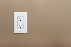 Electrical Outlet. Household Electrical Outlet on wall. Power 110v stock photos