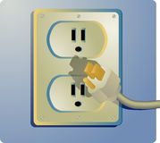 Electrical outlet Stock Images