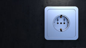 electrical outlet, as man and woman connection concept Royalty Free Stock Images