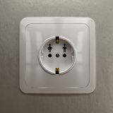 Electrical outlet, as man and woman connection concept Stock Photos