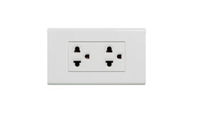 Electrical outlet isolated lizenzfreie stockbilder