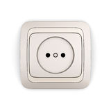 Electrical Outlet. Isolated on white background. 3d render image royalty free illustration
