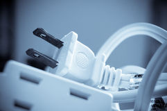 Electrical outlet and plug Stock Photos