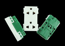 Electrical outlet (socket plug) Royalty Free Stock Images