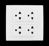Electrical outlet (socket plug) Stock Images