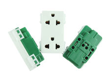 Electrical outlet (socket plug) Stock Photo