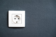 Electrical outlet socket on wall Royalty Free Stock Photos
