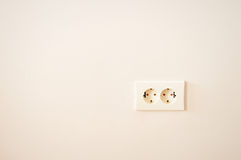 Electrical outlet on wall Royalty Free Stock Images