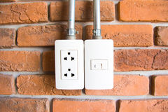 Electrical outlet on a wall Royalty Free Stock Image