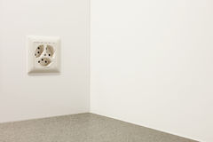 Electrical outlet on a wall Royalty Free Stock Images
