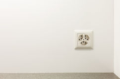 Electrical outlet on a wall Stock Image