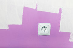 Electrical outlet on wall Royalty Free Stock Photos