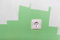 Electrical outlet on wall Stock Photography