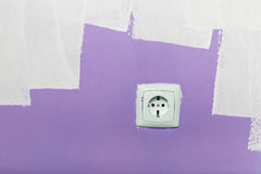 Electrical outlet on wall Royalty Free Stock Photo