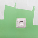 Electrical outlet on wall Stock Image