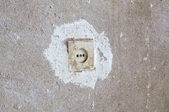 Electrical outlet in the wall Stock Photos