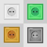 Electrical outlets on the wall Royalty Free Stock Photography