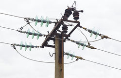 Electrical overhead line Royalty Free Stock Photo