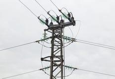 Electrical overhead line Stock Photos