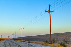 Electrical overland line Royalty Free Stock Images