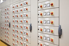 Electrical panel. For motors control royalty free stock photos