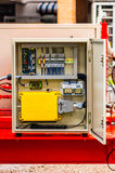 Electrical panel. The electrical panel for wireless remote control on movable machine Royalty Free Stock Photography