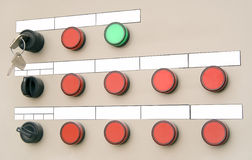 Electrical panel with buttons Stock Image
