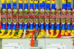 Electrical Panel Line, Controls And Switches, Safety Concept Royalty Free Stock Photography