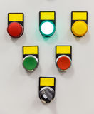 Electrical panel with multi-colored indicators Royalty Free Stock Photo