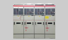 Electrical part and accessories in the control cabinet , control and power distributor,lockout. Tagout stock photography