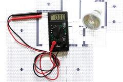 Electrical plan Stock Photos