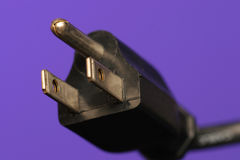 Electrical plug. Three prong electrical plug Royalty Free Stock Photography