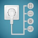 Electrical plug closeup Stock Images