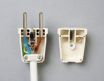 Electrical plug. royalty free stock photos