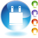 Electrical Plug Icon Stock Images