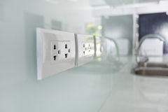 Electrical plug interior Royalty Free Stock Image