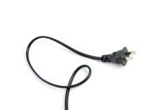 Electrical plug isolated on white background Stock Image