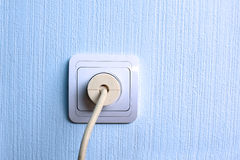Electrical plug and outlet connector Royalty Free Stock Photos